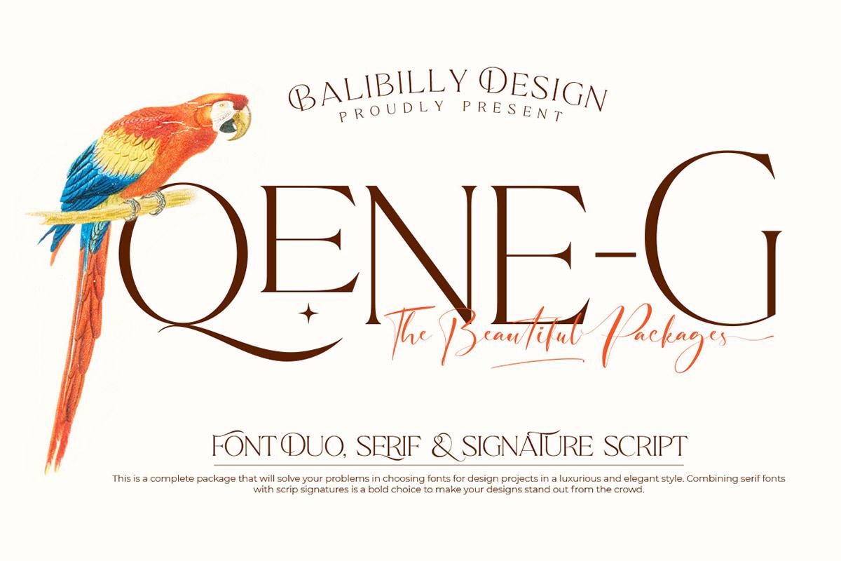 Free Qene-G Serif Font