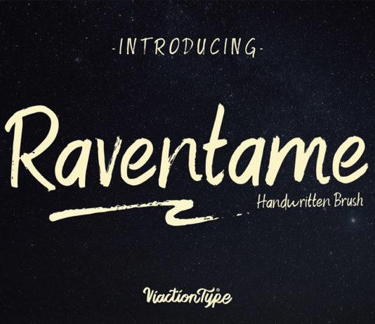 Free Raventame Handwritten Brush Font