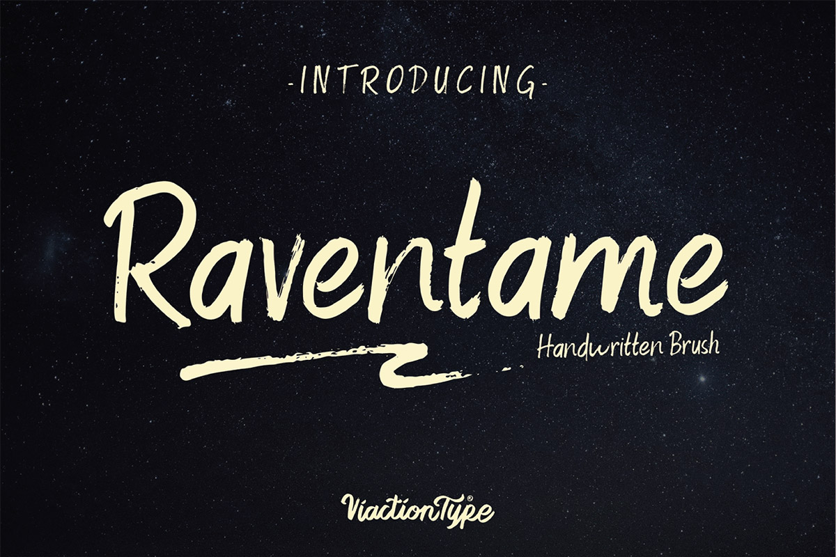 Free Raventame Handwritten Brush Font