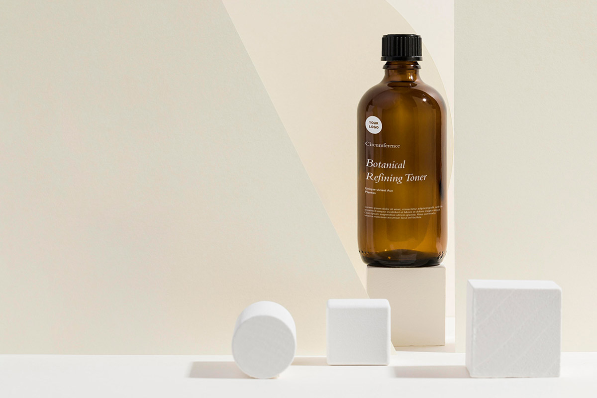 Free Skin Care Bottle Mockup