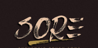 Free Sore Brush Font
