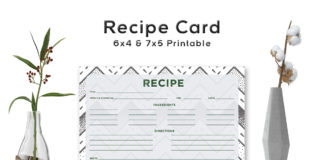 Free Stippled Pattern Recipe Card Template