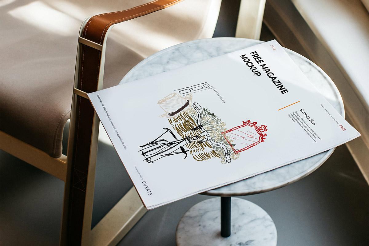 Free Travel Magazine Mockup