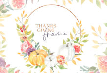 Free Watercolor Thanksgiving Frame
