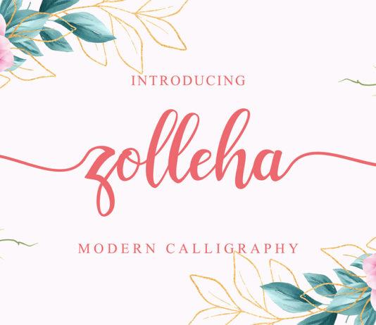 Free Zolleha Script Font