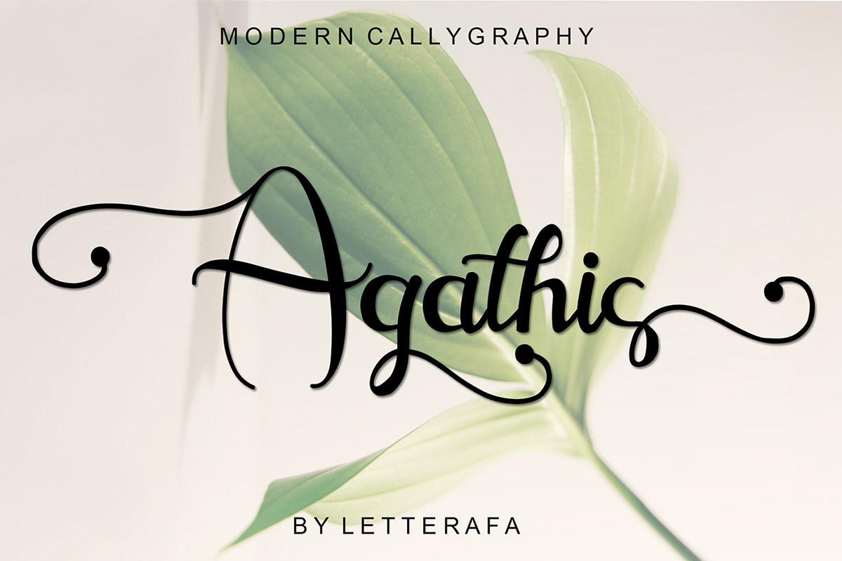 Free Agathis Script Font