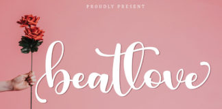 Free Beatlove Calligraphy Font
