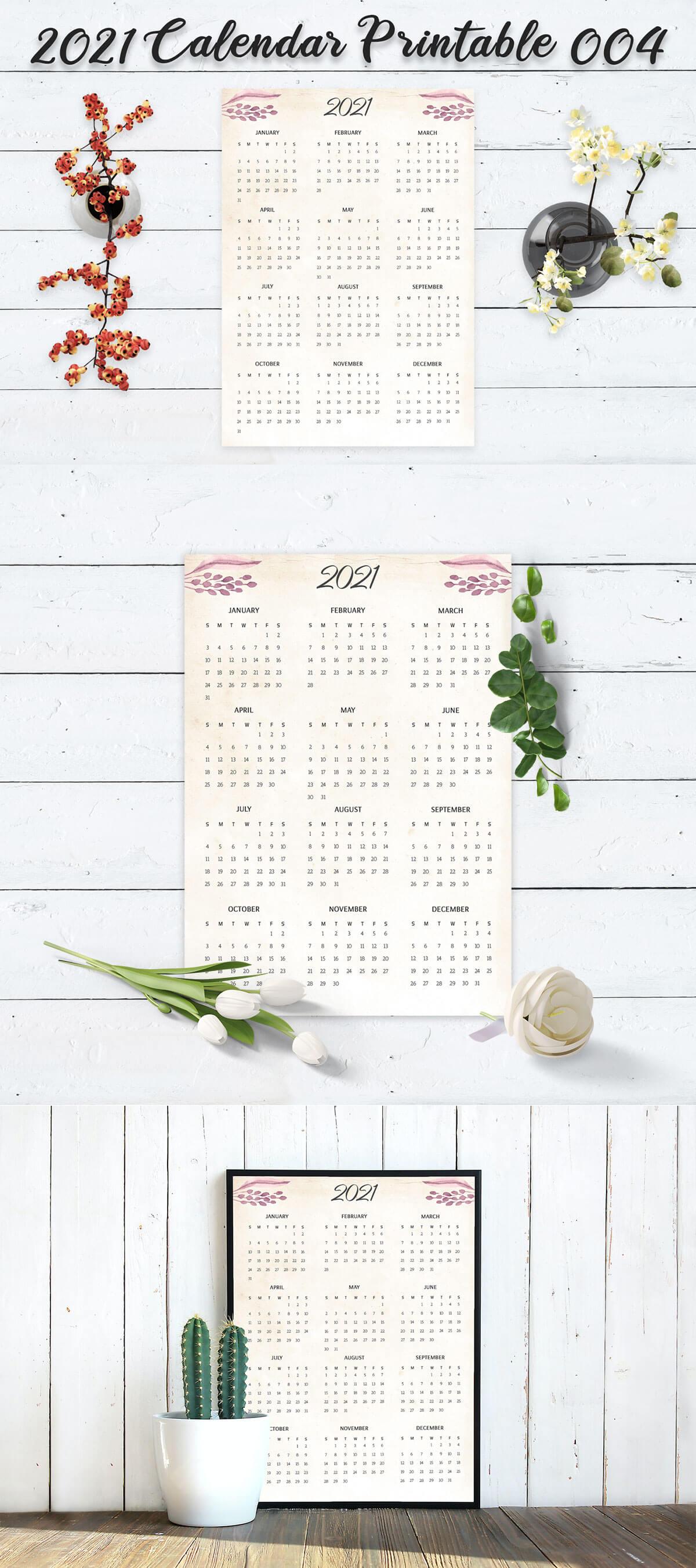 Free Calendar 2021 Printable 004