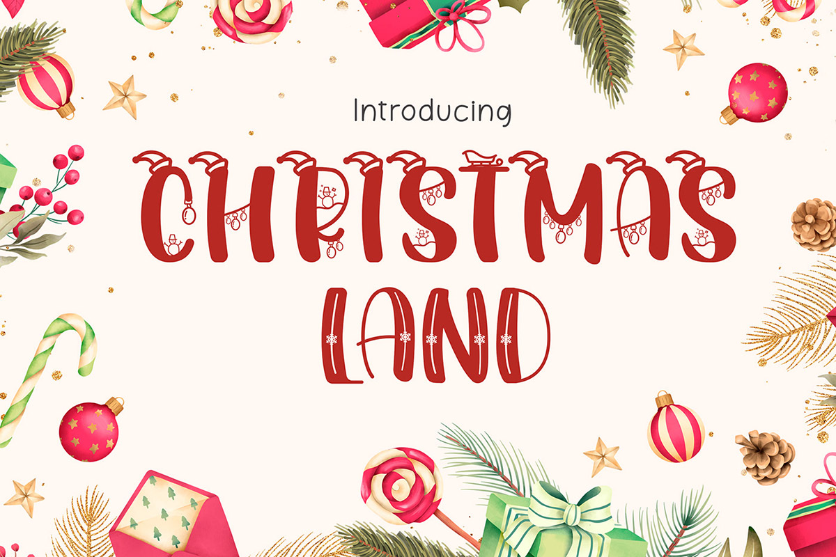 Free Christmasland Decorative Font