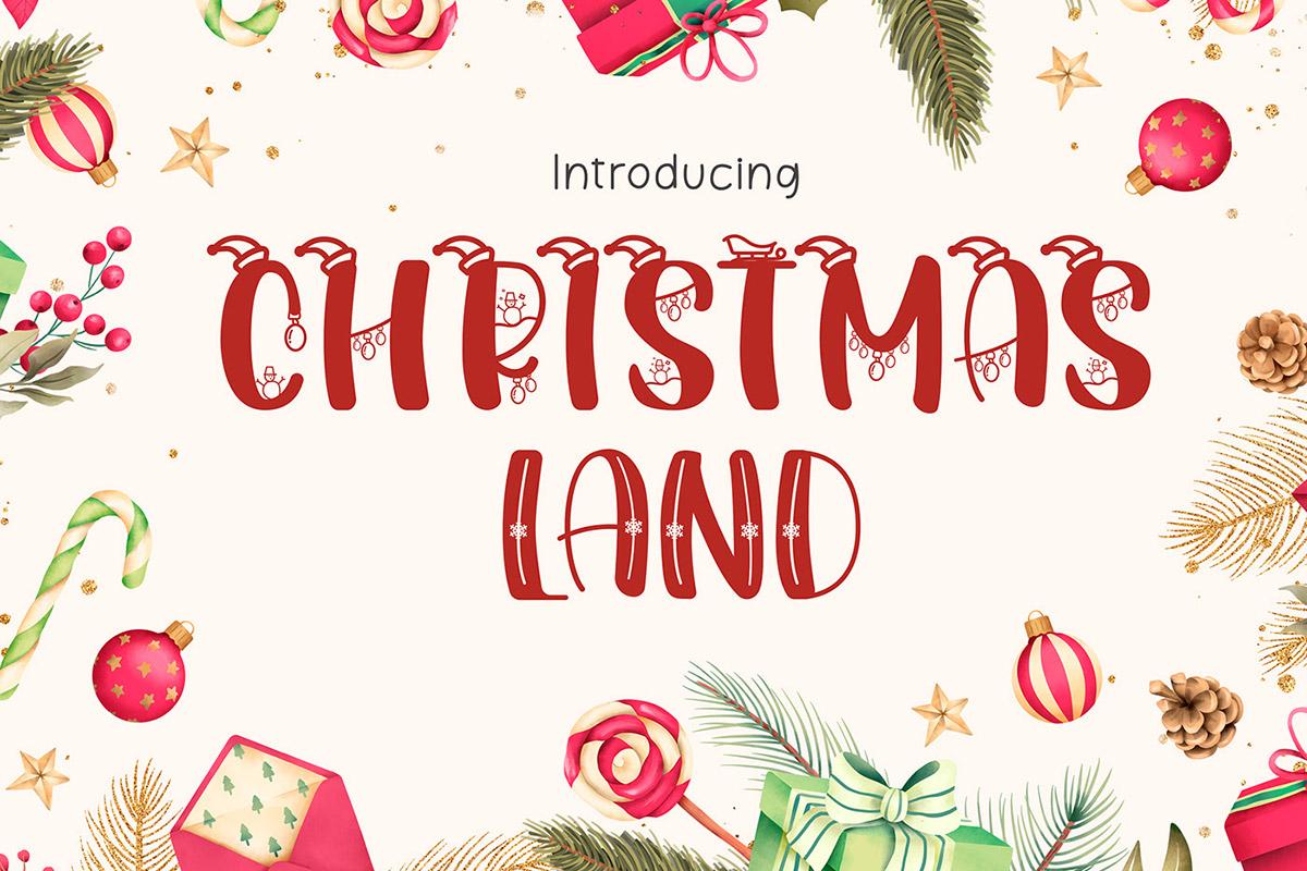 Free Christmasland Decorative Font