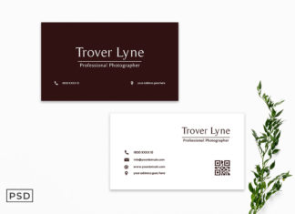 Free Maroon Business Card Template
