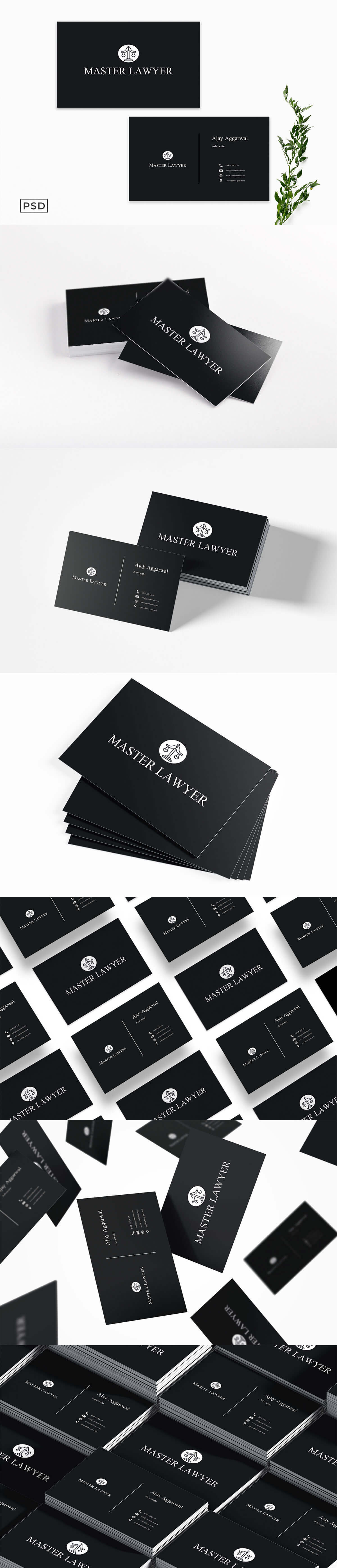Free Lawyer Business Card Template