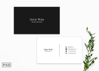 Free Minimalist Business Card Template V2