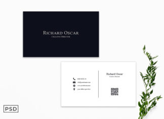 Free Simple Minimalist Business Card Template
