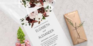 Free Simple Wedding Invitation Template