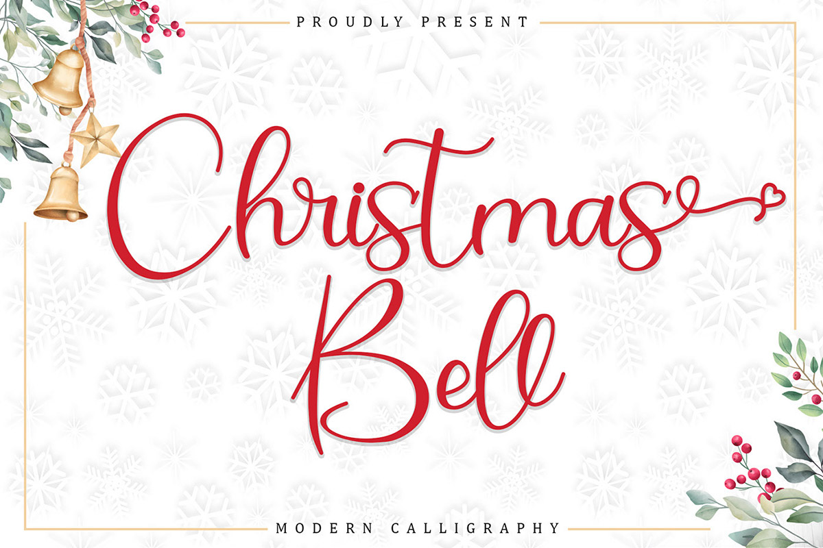 Free Christmas Bell Calligraphy Font
