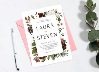 Free Elegant Wedding Invitation Template