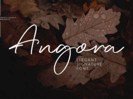 Free Angora Signature Font