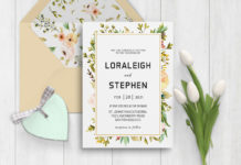 Free Beautiful Wreath Wedding Invitation Template