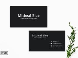 Free Black Sober Business Card Template