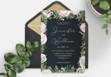 Free Elegant Floral Wedding Invitation Template