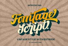 Free Fomtage Script Font