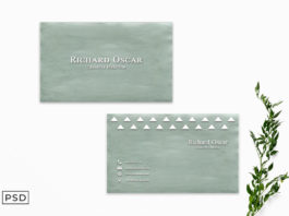 Free Green Minimalist Business Card Template