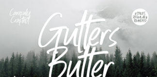 Free Gutters Butter Handwritten Font