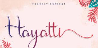 Free Hayatti Script Font