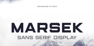 Free Marsek Display Font