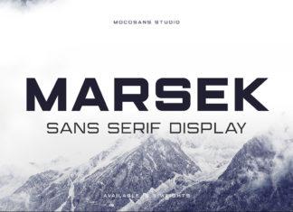 Free Marsek Display Font