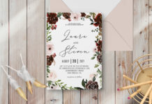 Free Radiant Bloom Floral Wedding Invitation Template
