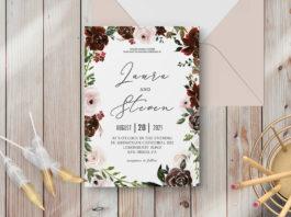 Free Radiant Bloom Floral Wedding Invitation Template