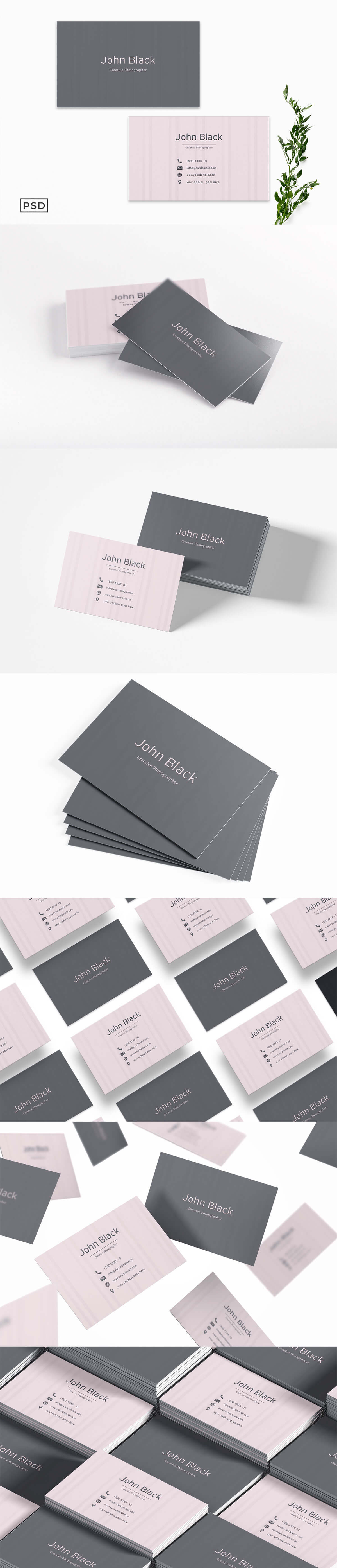 Free Simple Pink Business Card Template