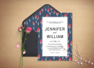 Free Sober Wedding Invitation Template