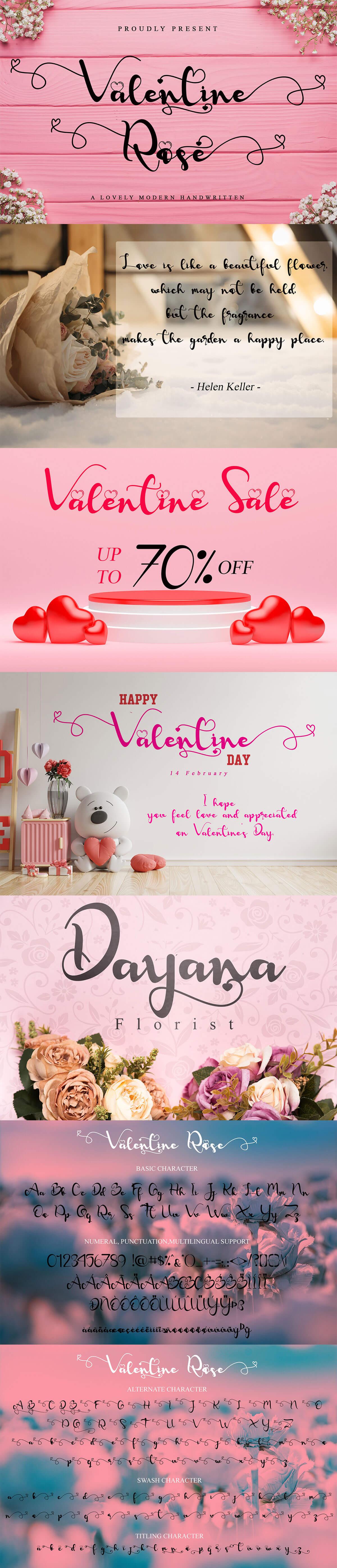 Free Valentine Rose Handwritten Font