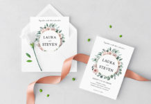 Free Wedding Wreath Wedding Invitation Template