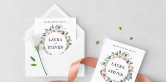 Free Wedding Wreath Wedding Invitation Template