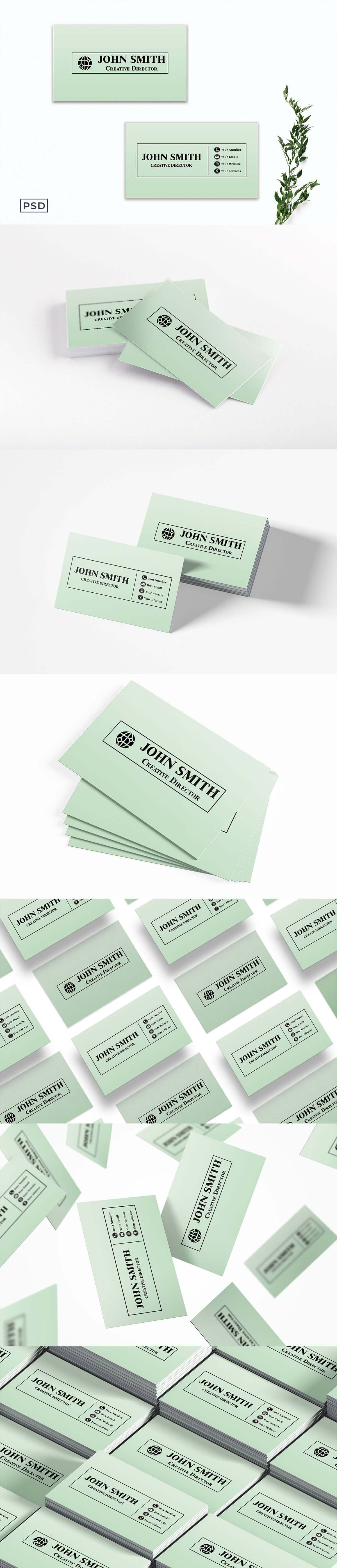 Free Creative Green Business Card Template