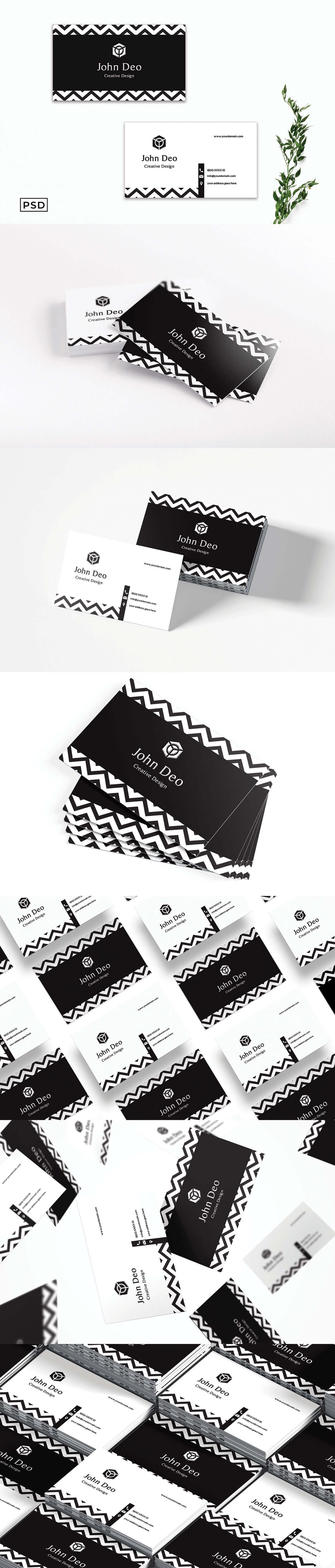 Free Decorative Business Card Template
