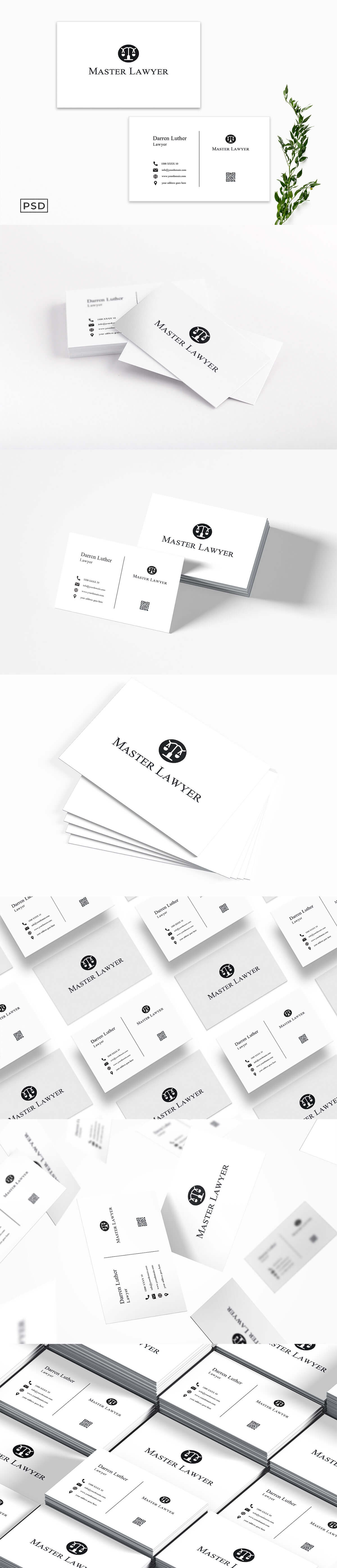 Free Lawyer Business Card Template V2