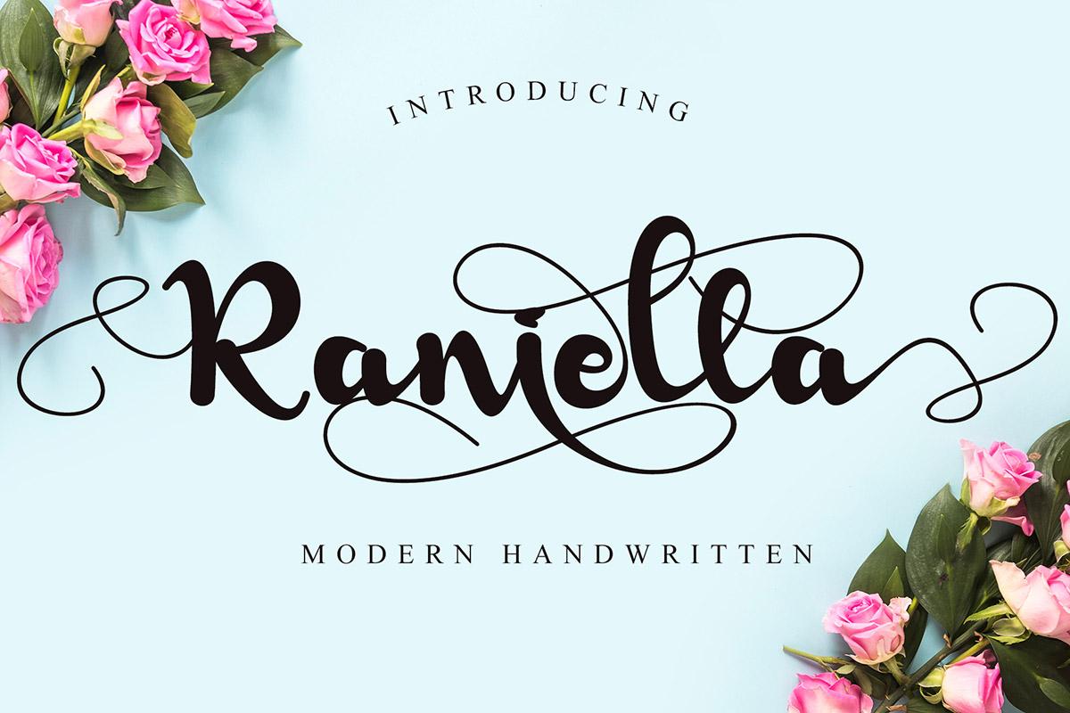 Free Raniella Handwritten Font