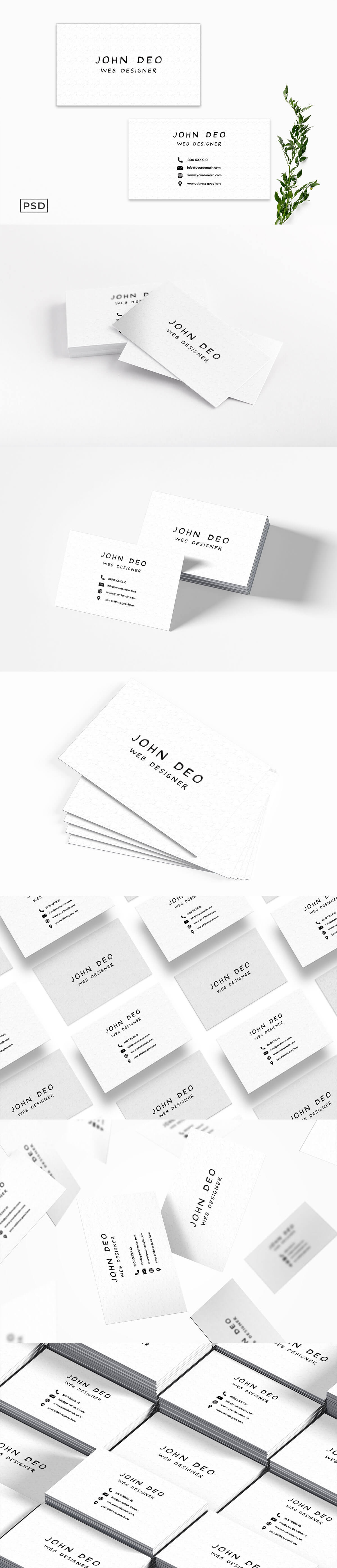 Free White Business Card Template