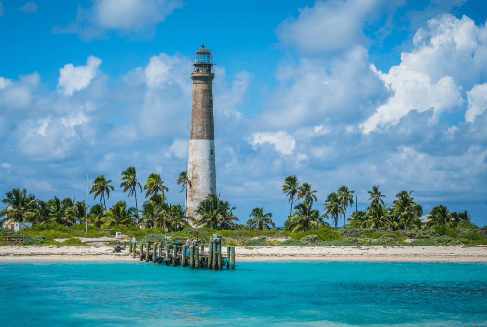 A lighthouse in the Florida Keys