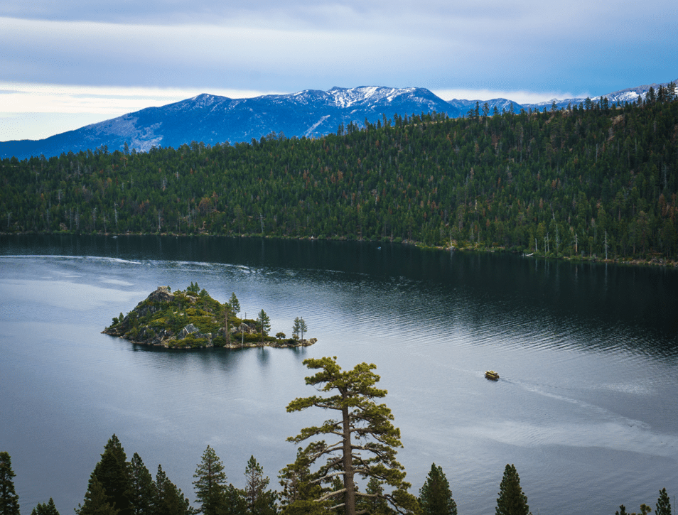 A view of Lake Tahoe