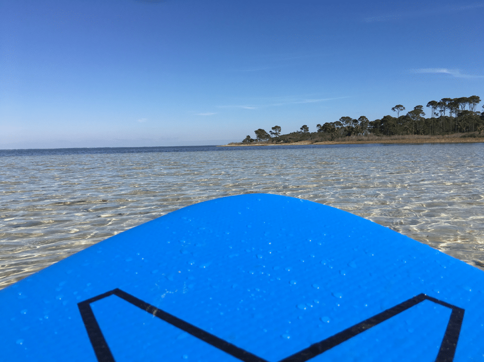 Paddleboard on water in the Florida Panhandle