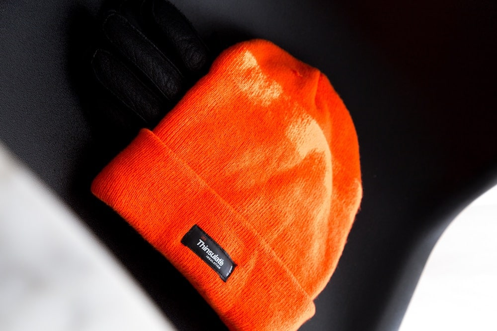 hunting hat in blaze orange