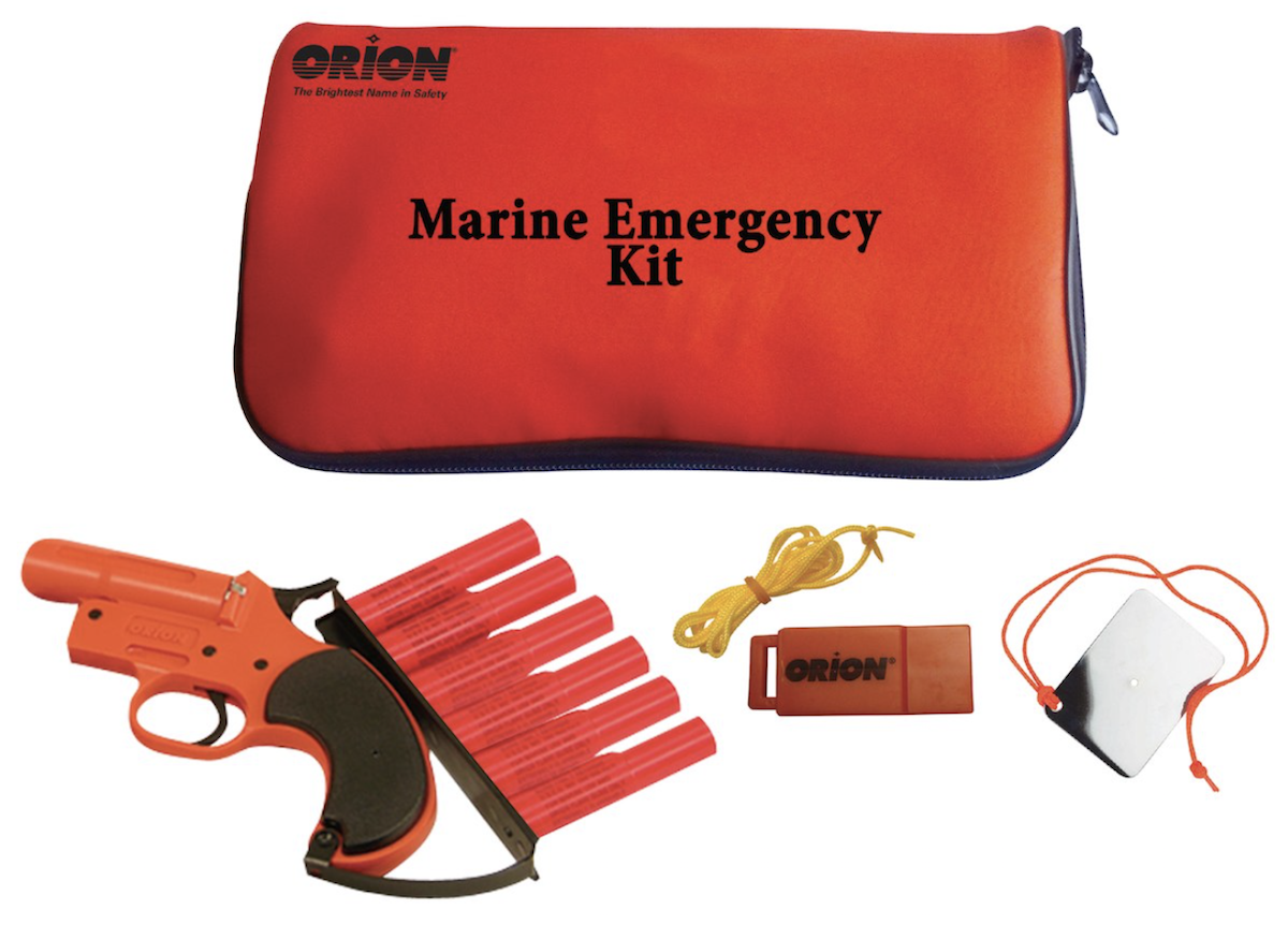flare kit and a flare gun