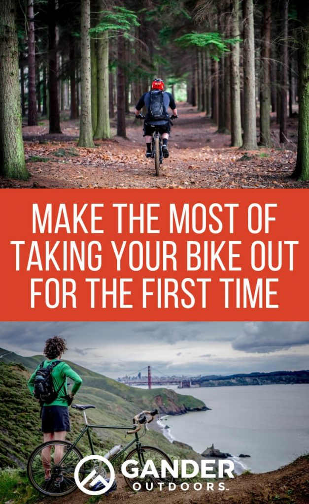 Make the most of taking your bike out for the first time