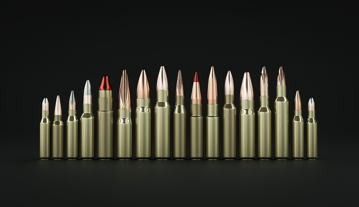 Rifle ammunition 3d illustration